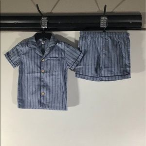 Blue Striped Pajama Wear